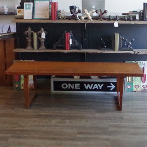 Canadian Mid Century Solid Teak Coffee Table - Vintage Home Boutique - 4