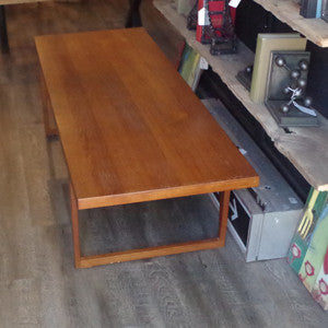 Canadian Mid Century Solid Teak Coffee Table - Vintage Home Boutique - 1