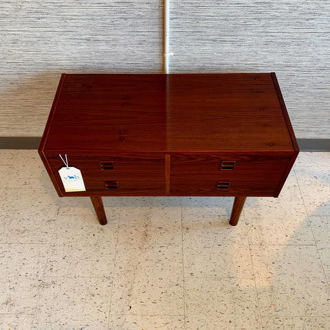 Compact Danish Mid-Century Rosewood Entry Cabinet