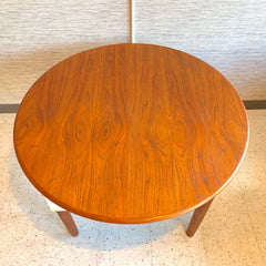 Compact Danish Mid-Century Round Teak Dining Table
