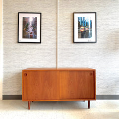 Compact Danish Modern Teak Sideboard By Poul Hundevad Co.