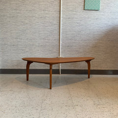 Compact Mid-Century Teak Boomerang Coffee Table
