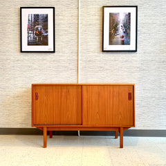 Compact Canadian Mid-Century Modern Teak Sideboard By Punch Designs