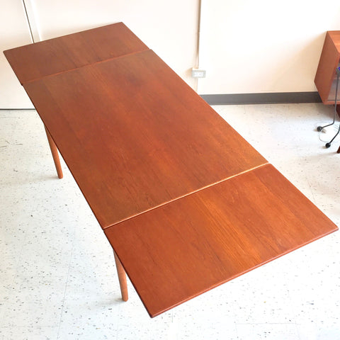 Compact Danish 1960's Teak Extending Dining Table