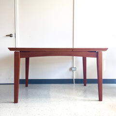 Compact Danish Mid-Century Teak Dutch Leave Dining Table