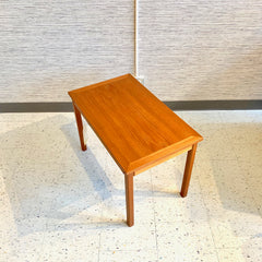 Compact Danish Modern Teak Coffee Table By Mobelintarsia