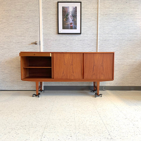 Compact Mid-Century Danish Teak Sideboard By EW Bach for Sejling Skabe