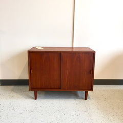 Compact Mid-Century Teak Bar Or Media Cabinet By Poul Cadovius