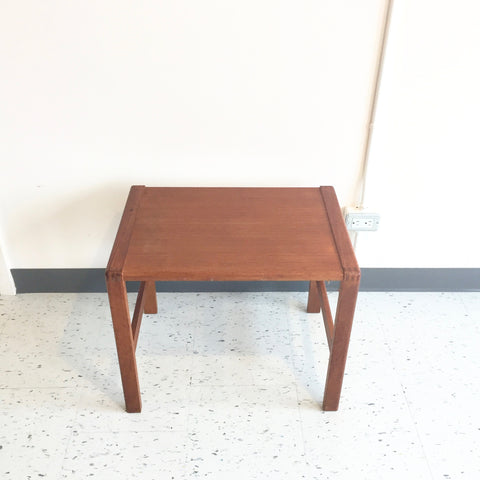 Compact Mid-Century Teak Side Table With Finger Joints