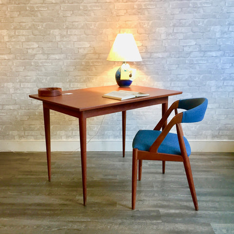 Compact Mid-Century Teak Table or Desk By Vohn Pedersen