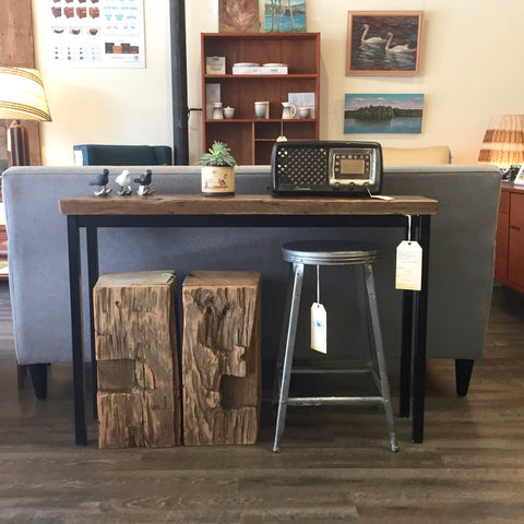 Barn Board Console Table