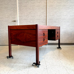 Danish Mid-Century Rosewood Executive Desk By Chr Linneberg