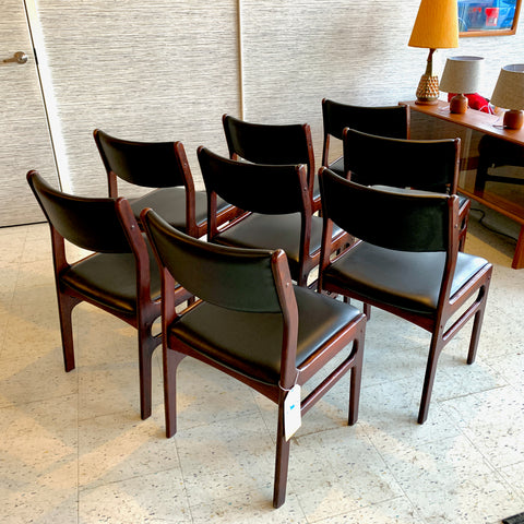 Danish Mid-Century Solid Rosewood Dining Chairs By Dyrlund