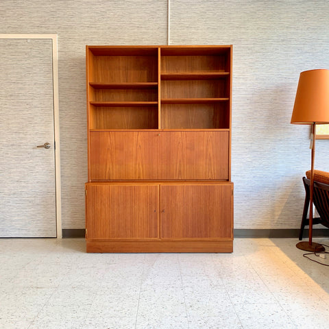 Danish Mid-Century Teak Secretary Desk By Poul Hundevad Co.