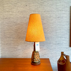 Danish Modern Ceramic Table Lamp With Original Shade