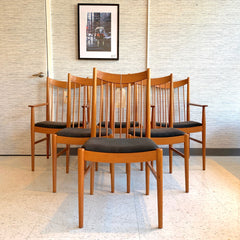Danish Modern Dining Chairs In Teak By Arne Vodder for Sibast Mobler