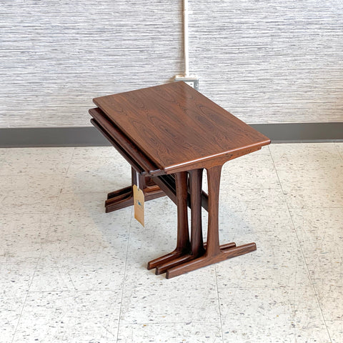 Danish Modern Rosewood Nesting Tables By Kai Kristiansen