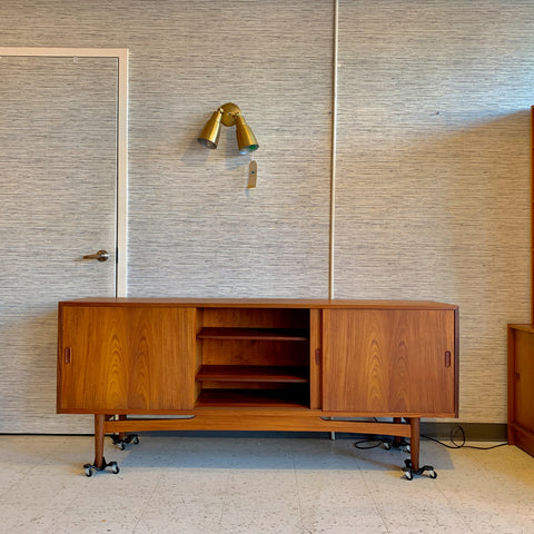 Danish Modern Teak 3 Door Sideboard