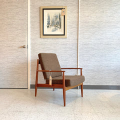 Danish Modern Teak Armchair By Grete Jalk For France & Daverkosen