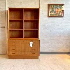 Danish Modern Teak Cabinet And Bookcase By Bornholm Mobler