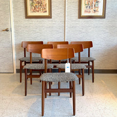 Danish Modern Teak Dining Chairs By Findahls Mobelfabrik