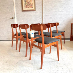 Danish Modern Teak Dining Chairs By Schionning & Elgaard