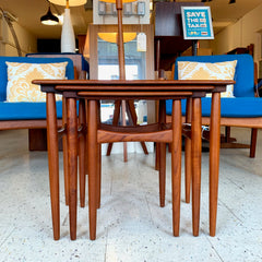 Danish Modern Teak Nesting Tables Set Of 3