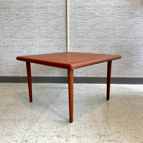 Danish Modern Teak Square Coffee Or Accent Table