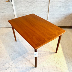 Danish Mid-Century Extending Surfboard Dining Table