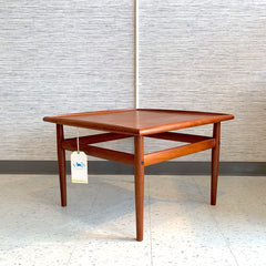 Danish Mid-Century Teak Square Coffee Table By Grete Jalk