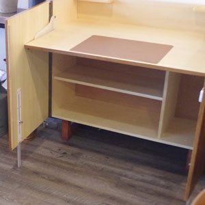 New Old Stock Mid Century Danish Teak Cabinet and Desk