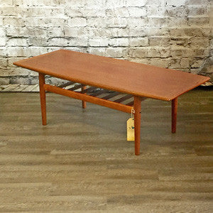 Danish Mid-Century Teak Coffee Table by Grete Jalk for Glostrup