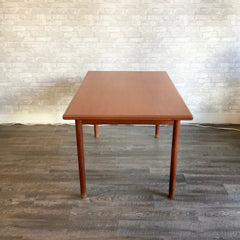 Compact Danish Mid-Century Teak Dining Table By H Sigh And Sons