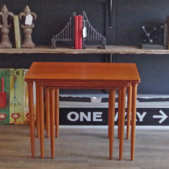 Danish Mid Century Teak Nesting Tables - Vintage Home Boutique - 1