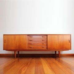 Danish Mid-Century Teak Sideboard By Clausen & Son