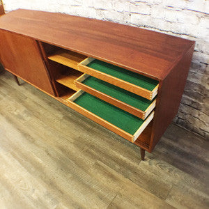 Danish Mid Century Teak Tall Sideboard - Vintage Home Boutique - 4