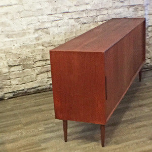 Danish Mid Century Teak Tall Sideboard - Vintage Home Boutique - 2