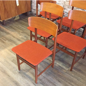 Danish Mid Century Teak and Rosewood Dining Chairs