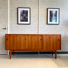 Danish Modern 3 Door Teak Sideboard