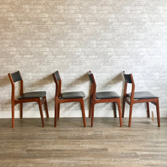 Danish Modern Dining Chairs By Poul Volther for Frem Rojle