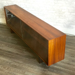 Danish Modern Rosewood Display or Media Cabinet By HW Klein