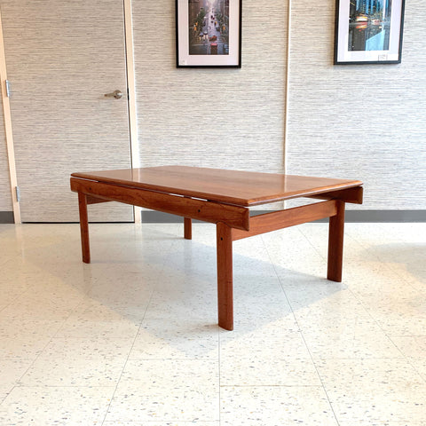 Danish Modern Solid Teak Coffee Table