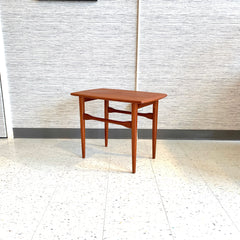 Danish Modern Surfboard Style Teak Side Table
