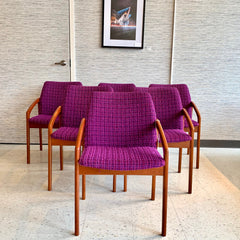 Danish Modern Teak Armchairs By Henning Kjaernulf With Original Upholstery