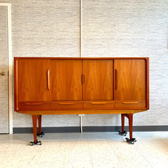 Danish Modern Teak Credenza Or Highboard