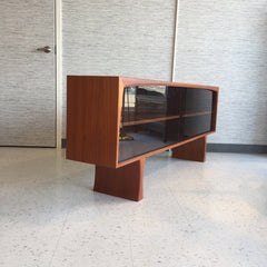 Danish Modern Teak Media Cabinet Styled After Johannes Andersen