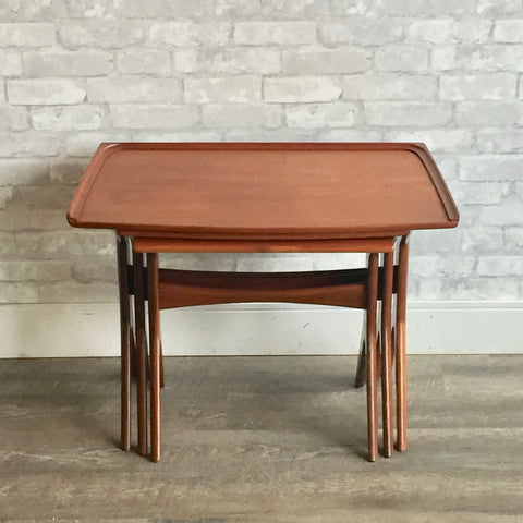 Danish Modern Teak Nesting Tables By Johannes Andersen