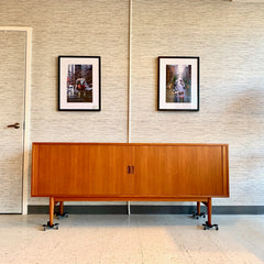 Danish Modern Teak Sideboard By Arne Vodder With Tambour Doors
