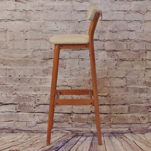 Danish Mid Century Teak Bar Stools by Tarm Stole-Og Mobelfabrik AS - Vintage Home Boutique - 2