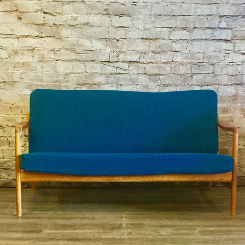Danish Teak and Beech Loveseat by Hvidt and Molgaard-Nielsen